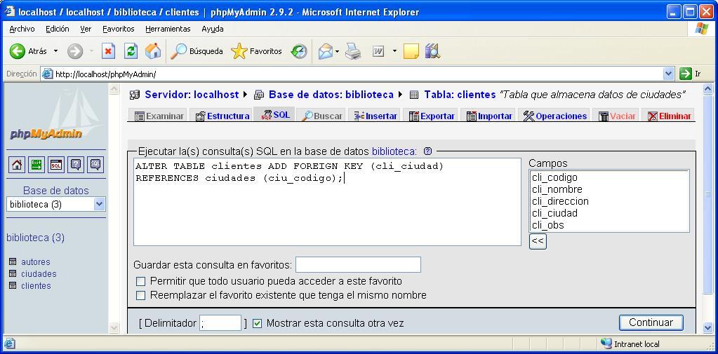 Tutorial java creaci n la base de datos biblioteca de ejemplo tutorial de java c mo lo - Alter table add foreign key ...