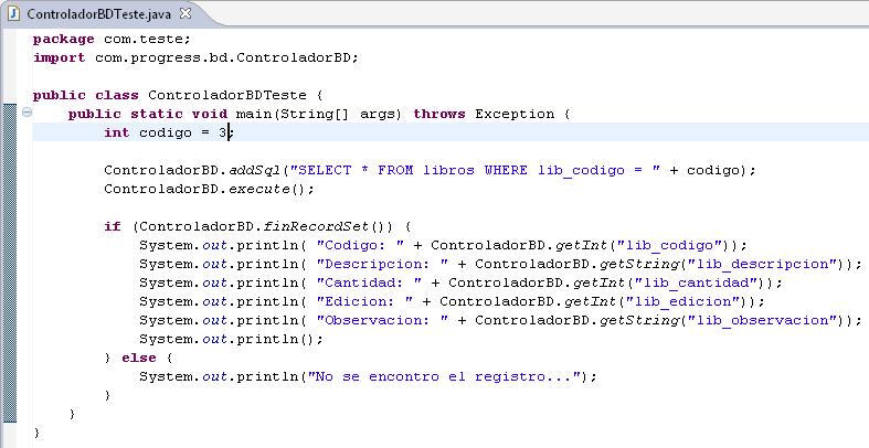 Tutorial java creando el test de conexion a la bd 4 for Java word documents